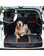 Bagageskydd för hundar, GeeRic 126 x 105 cm uppdaterat bilskydd för hundar vattentätt tvättbart smutsbeständigt mjukt halkfritt matta universellt vattentätt baklucke+förvaringspåsar och fönster