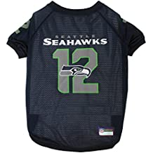 Pets First NFL Seattle Seahawks No. 12th Pet Jersey, Small