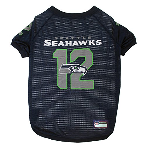 Pets First NFL Seattle Seahawks No. 12th Pet Jersey, Small -