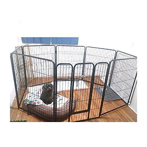 Extra Large Exercise Pen Heavy Duty 40 Inch With Door Big Dog Black