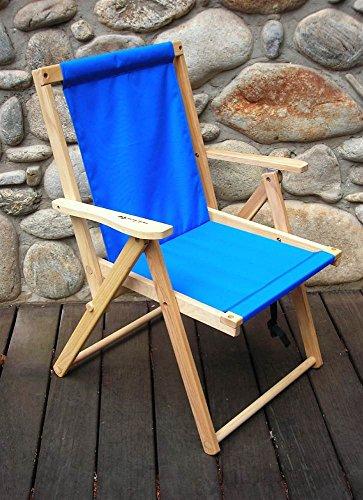 Highlands Folding Deck Chair in Atlantic - Chair Ridge Blue Dining