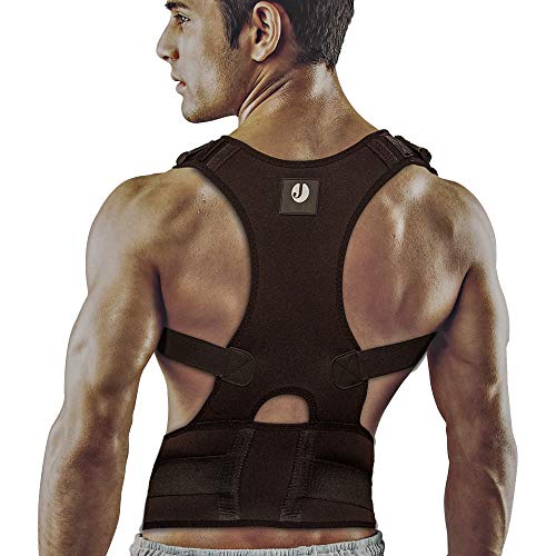 - Back Brace Posture Corrector for Men and Women by Jokvil. Fully Adjustable Back Straightener. Provides Relief from Lumbar and Neck Pain for Lower Mid and Upper Back Support. (Small)