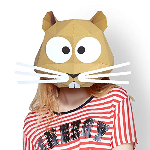 Animal Mouse Rat 3D mask Party Halloween Helmet DIY Cosplay Creative Handwork Funny Masker Lovely White