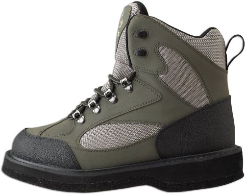 Caddis Men's Northern Guide Lightweight Taupe and Green Felt Sole Wading Shoe with Studs, 12 (Sole Shoe Felt Weight Wading)