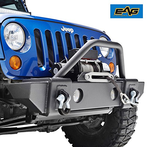 EAG Jeep Wrangler JK 07-18 Stubby Front Bumper With OE Fog Lights Housing