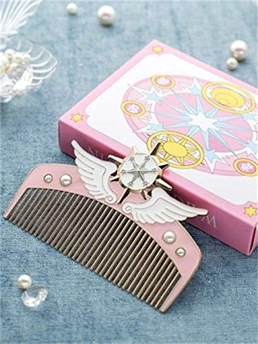 Women Girls Hair Styling Comb Clip Cardcaptor Sakura Pearls Anime Accessories
