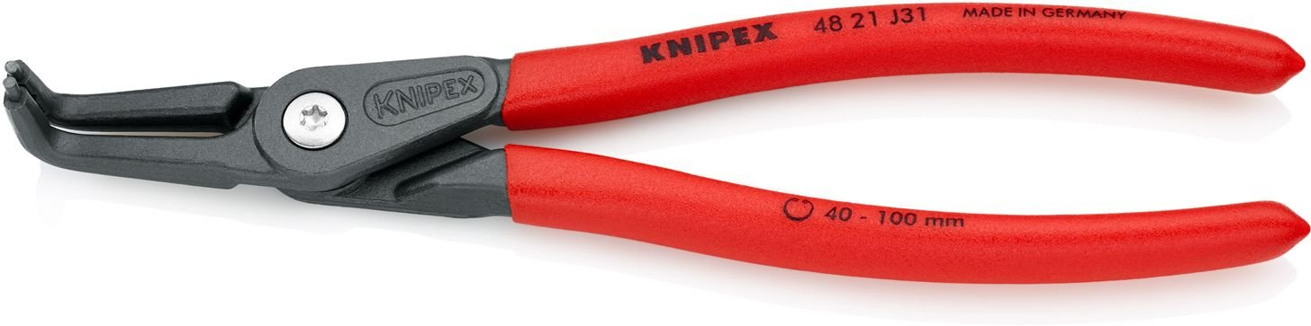 Knipex 4821J31 Internal Angled Precision Retaining Ring Pliers 8.5-Inch product image