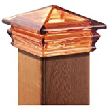 Woodway Products 870.3246 6-by-6-Inch Glass Pyramid Post Cap, 8-Pack, Amber