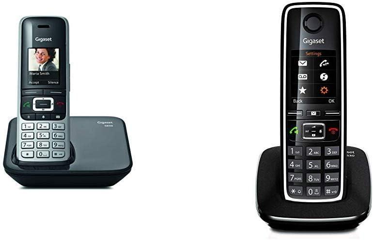 Gigaset S850; teléfono inalámbrico con Manos Libres; conexión Bluetooth; Pantalla en Color; Agenda de 500 contactos; conexión Auriculares; + C530. Teléfono inalámbrico con Manos Libres y Pantalla: Amazon.es: Electrónica