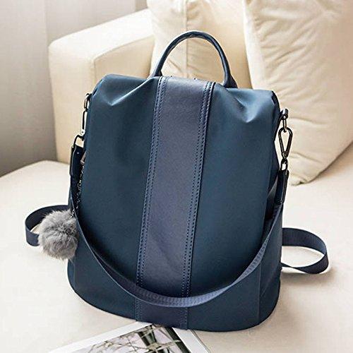 borsa donna da Zaino in Oxford zaino antifurto Colore tela NERO casual elegante Blu viaggio multifunzione da ppEqwr0T