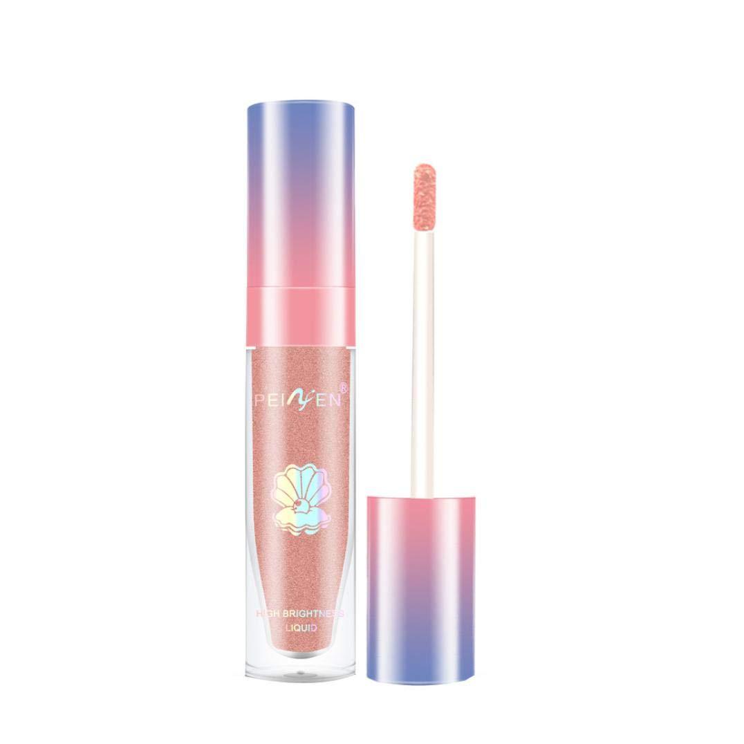 Single Color Highlighter Liquid Brighten Waterproof High Gloss Bottom Lips High Light Ministry Eye Lift Fluid Makeup Oil Control Highlighter Liquid (Pink)