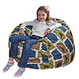Ahh! Products Blue Dinosaurs Cotton Washable Large Bean Bag Chair