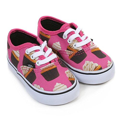Vans Toddlers Hot Pink/Cupcakes Authentic Canvas Trainers-UK 5 Infant]()