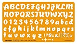Linograph Lettering Template Artist Font- I Drawing Template Letter Size 20 mm