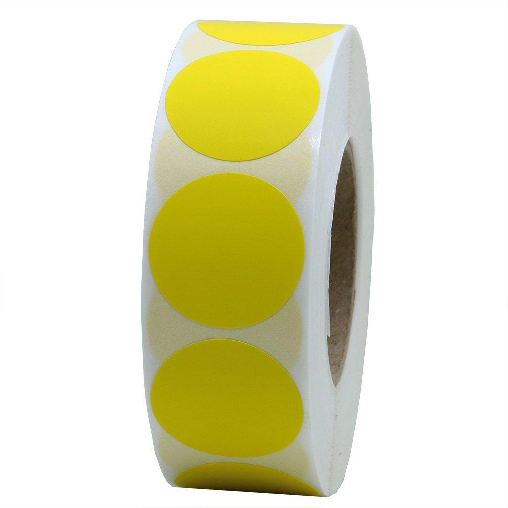 Rotolo Hybsk(TM) di bollini adesivi colorati rotondi da 25 mm per funzioni di codifica tramite colore, 1000 bollini adesivi per rotolo 1 ROLL red
