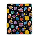 Cooper girl Solar System Throw Blanket Soft Warm Bed Couch Blanket Lightweight Polyester Microfiber 50x60 Inch