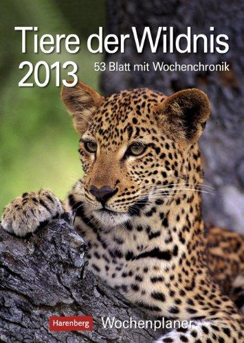 Tiere der Wildnis 2013: Harenberg Wochenplaner. 53 Blatt mit Zitaten und Wochenchronik