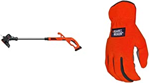 BLACK+DECKER 20V MAX String Trimmer/Edger Kit, 10-Inch with Easy-Fit All Purpose Glove (LST201 & BD505L)