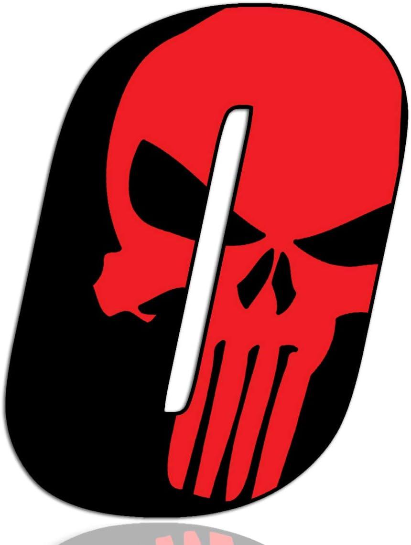 Biomar Labs® Número 0 Punisher Calavera Vinilo Adhesivo Pegatina Coche Auto Motocross Moto Sport Start Racing Tuning N 350: Amazon.es: Coche y moto