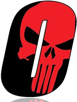 Biomar Labs Startnummer Nummern Auto Moto Vinyl Aufkleber Sticker Skull Schädel Punisher Rot Motorrad Motocross Motorsport Racing Nummer Tuning 0 N 350 Auto