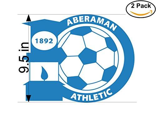 Aberaman Athletic FC United Kingdom Soccer Football Club FC 2 Stickers Car Bumper Window Sticker Decal Huge 9.5 inches