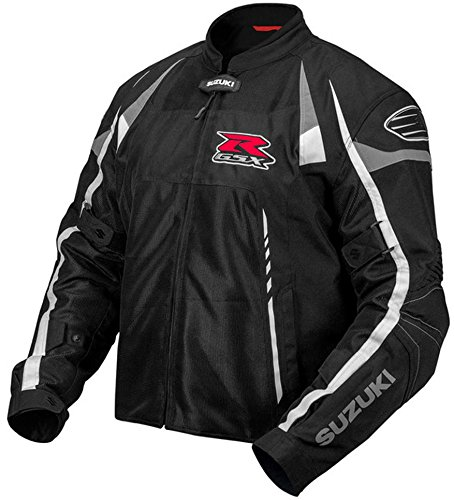 - Suzuki GSX-R Mesh Motorcycle Riding Jacket by Pilot Black Small