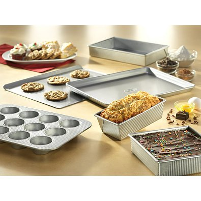 USA Pan Nonstick 6-Piece Bakeware Set Coated with the Silicone Coating
