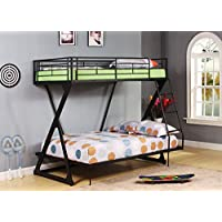 ACME Zazie Sandy Black Twin over Full Bunk Bed