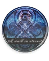 """Doctor Who """"I walk in eternity"""" Pin-back Button/ Magnet"""