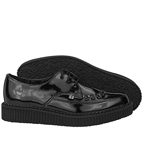 Leather u Shoes Black Women's Creepers T k Patent Pointed vpnOnPq