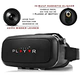 IRUSU PLAY VR headset - UPGRADED 42MM Fully Adjustable virtual reality lenses with Magnetic Clicker - The best VR headset with HD Resin lenses . Virtual reality glasses calibrated with leading mobile brands like Apple iphone 6 and plus, Samsung, Xiaomi,Lenovo,Oneplus,Moto, LG, nexus,Google Pixel,LeEco le2 and other mobiles with gyroscope.Experience 360 videos, 3D and VR games like never before.