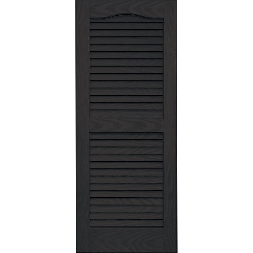 Vantage 0114035046 14X35 Louver Arch Shutter/Pair 046, Chocolate Brown