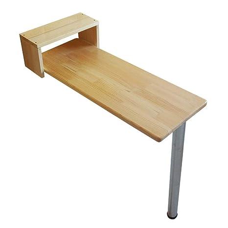 MOM Mesa pequeña - Mesa de madera con patas en forma de cubo ...