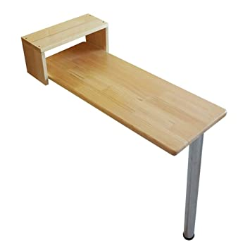 CN Lazy Table- Wood Drop-Leaf Table-Mounted, Mesa Plegable de ...