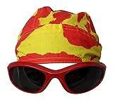 Main Event Market Tie Dye Skull Cap Doo Rag Sunglasses Mens Costume - RED
