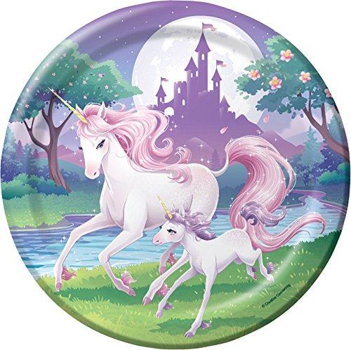 Unicorn Fantasy Party Dinner Plates