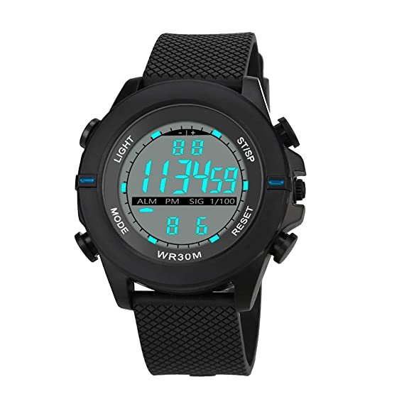 ... DYTA Sport Watches 5 ATM Waterproof Outdoor LED Digital Watch Military Rubber Wrist Watch Strap Analog Quartz Watch Relojes De Hombre Gifts for Men Dad ...