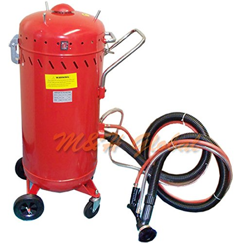 28 Gallon Sand Blaster with VACUUM SandBlaster by M&H Global