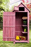 Merax Wooden Garden Shed Wooden Lockers with Fir Wood (Auburn and red Color – Arrow shed) Review