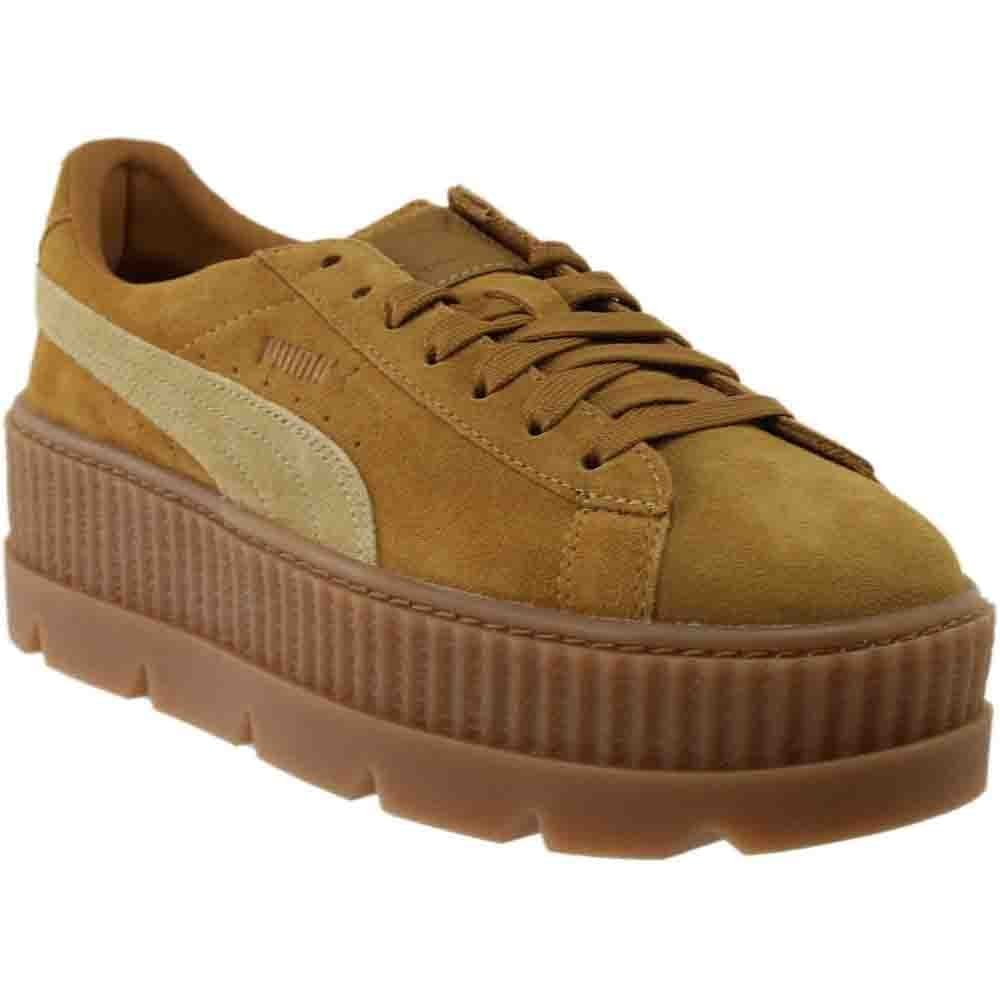 PUMA Womens Fenty by Rihanna Tan Cleated Creeper 36626802 Sneakers Shoes B074KL71DH 6 B(M) US|Brown