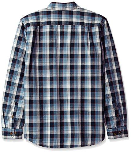 Carhartt Men's Fort Plaid Long Sleeve Shirt, Steel Blue, Large by Carhartt (Image #2)