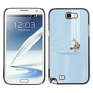 // PHONE CASE GIFT // Duro Estuche protector PC Cáscara Plástico Carcasa Funda Hard Protective Case for Samsung Note 2 N7100 / falling down /