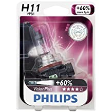 Philips H11 VisionPlus Upgrade Headlight Bulb, 1 Pack