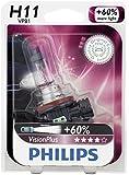 Philips H11 VisionPlus Upgrade Headlight Bulb, 1 Pack
