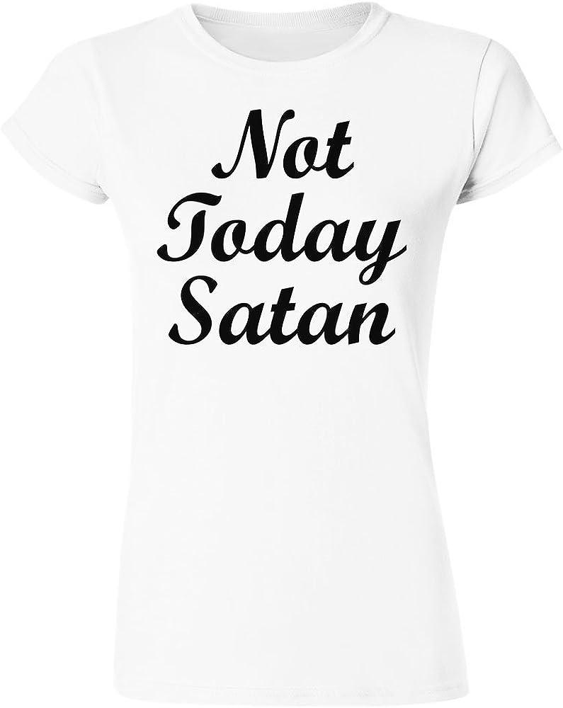 Not Today Satan Minimal Design Womens T-Shirt Extra Large White