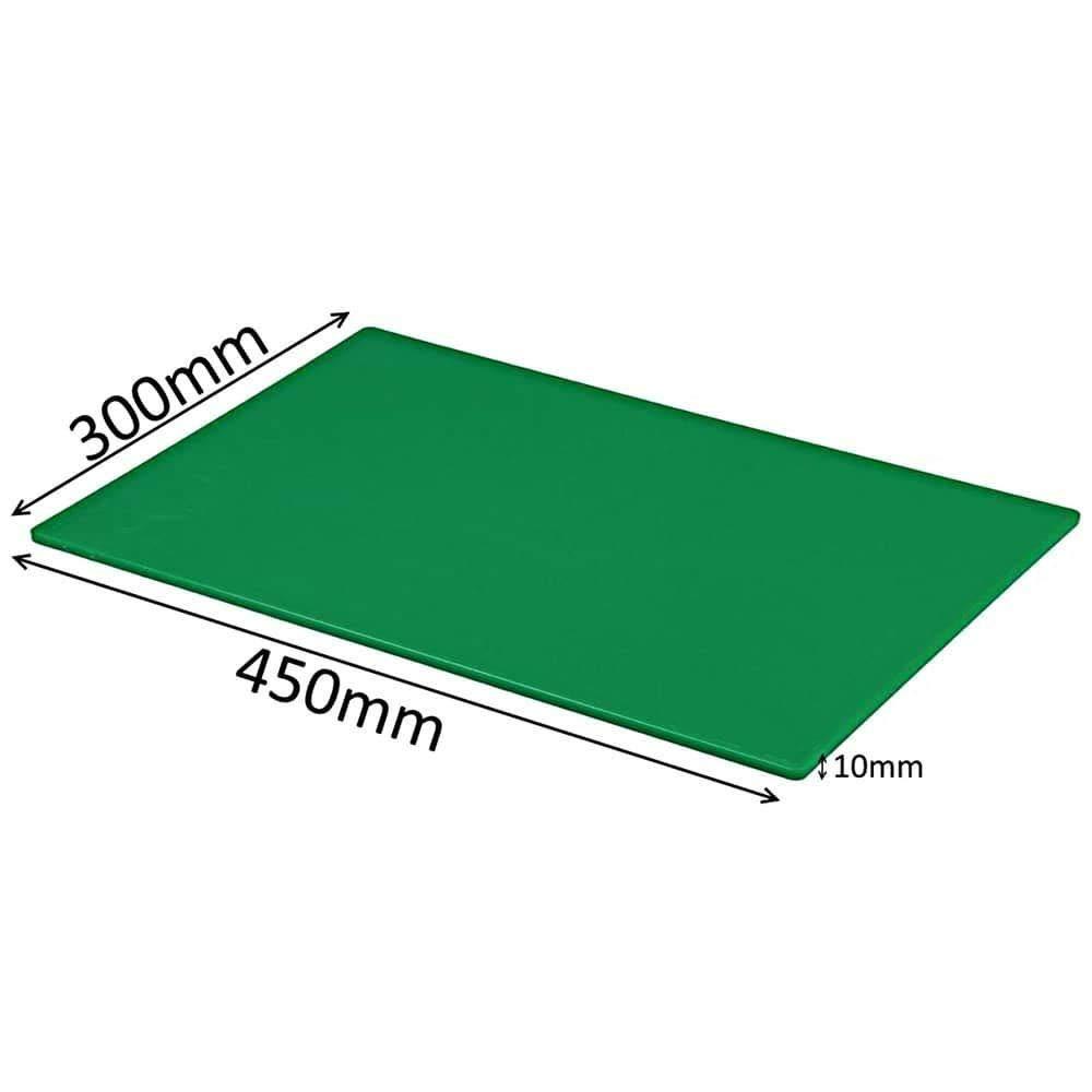 Grande planche /à d/écouper professionnelle pour la restauration des aliments avec code couleur Vert