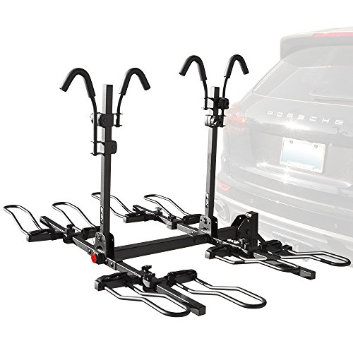 BV Bike Bicycle Hitch Mount Rack Carrier for Car Truck SUV – Tray Style Smart Tilting Design