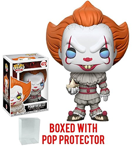 Funko Pop  Stephen Kings It Pennywise Clown Vinyl Figure  Bundled With Pop Box Protector Case