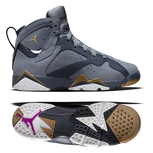 Nike Air Jordan 7 Retro GG 442960-407 Blue Dusk/Gold/Obsidian/White Kids Shoes (4Y)