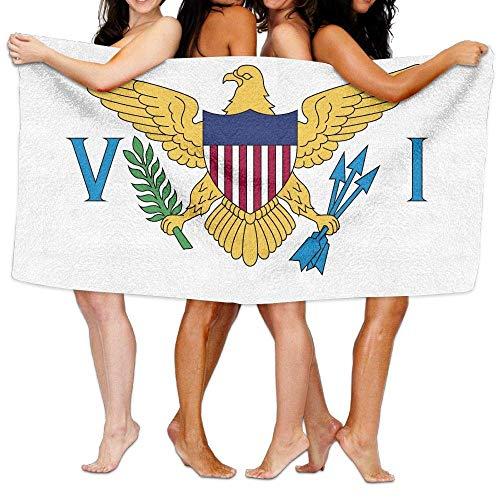 DEFFWBb USA Flag Virgin Islands Premium 100% Microfiber Bath Towels, Soft Luxury Large Bath Sheet, Lightweight Highly Absorbent - Multipurpose Full of Personality Printing Washcloths